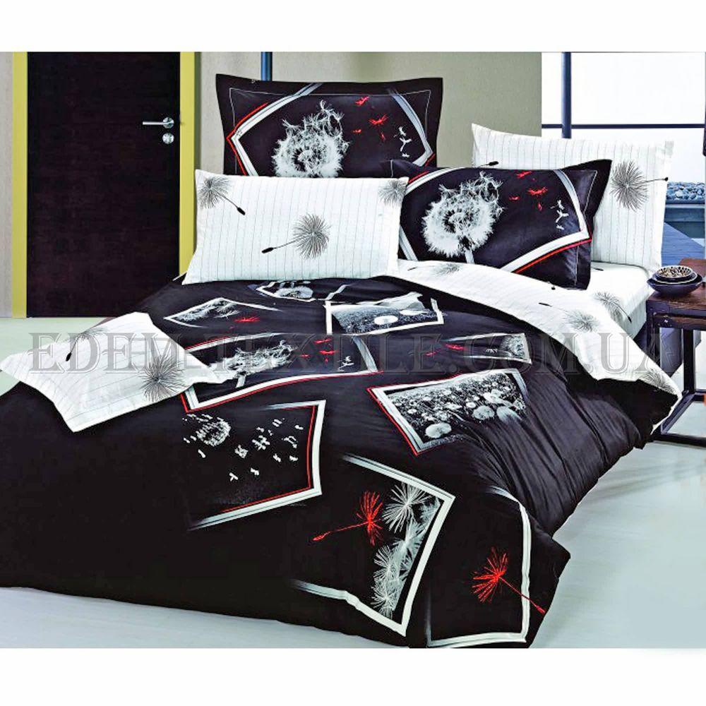 Постільна білизна Love You 160х220 сатин 3D Ніч Чорно-білий купити ... 3756237b551fa