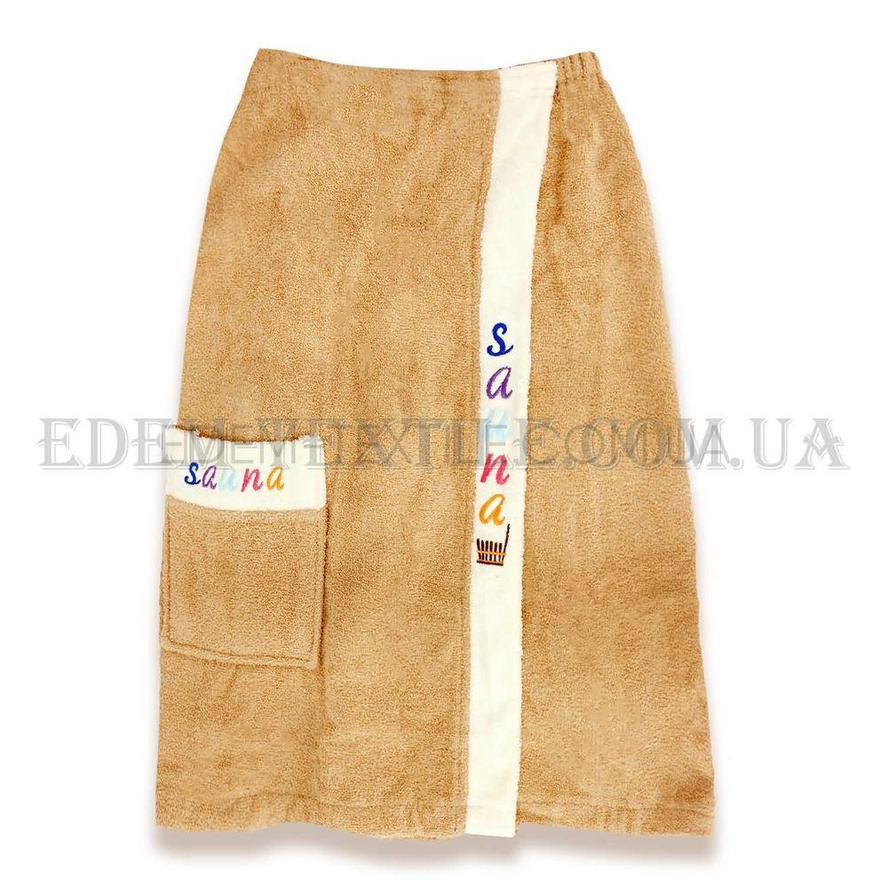 f9188d219a5d Махровый комплект для бани мужской Sauna Песочный Купить в Edem-Textile