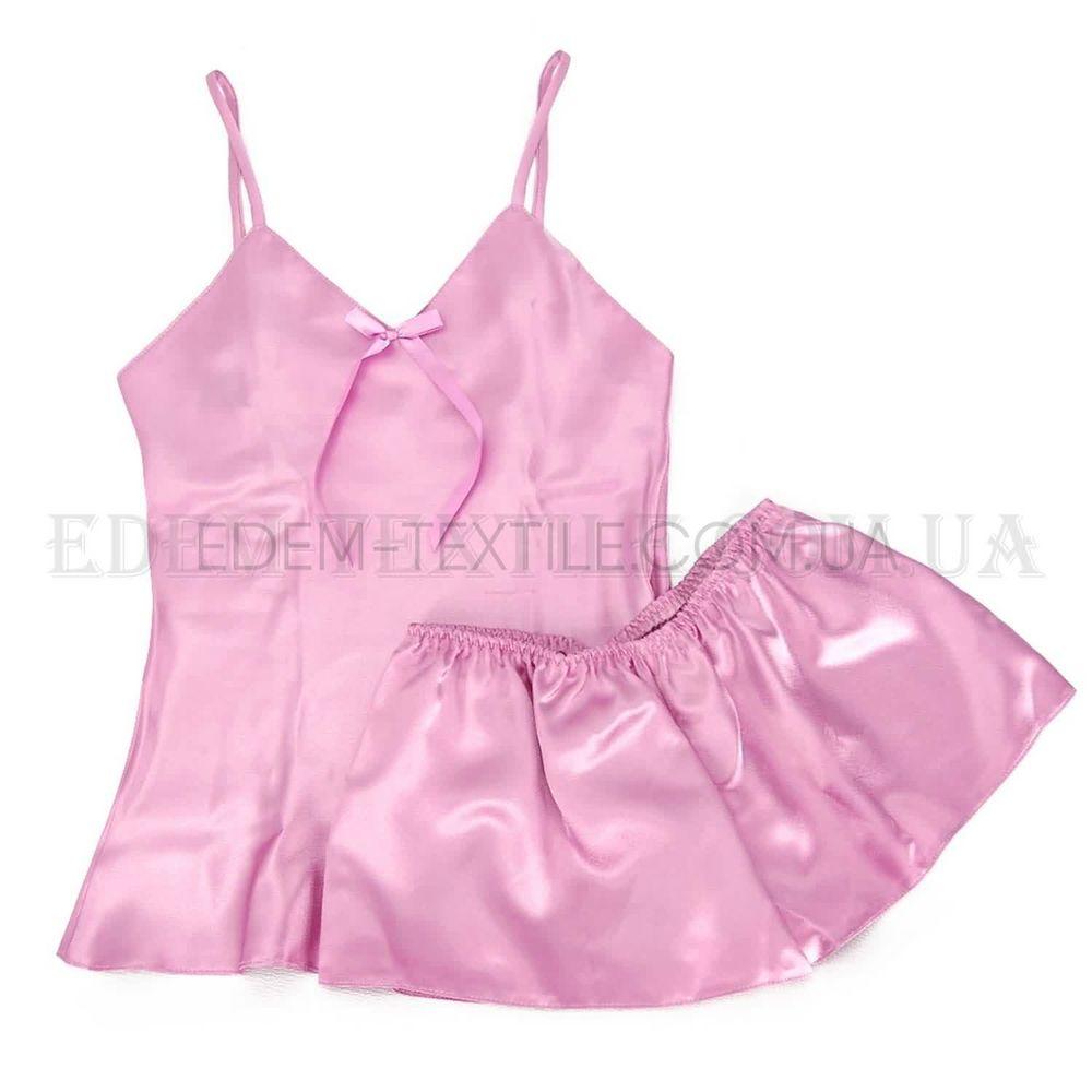 Атласный комплект шорты майка Irall Aria Розовый Купить по Украине e510f31403a03