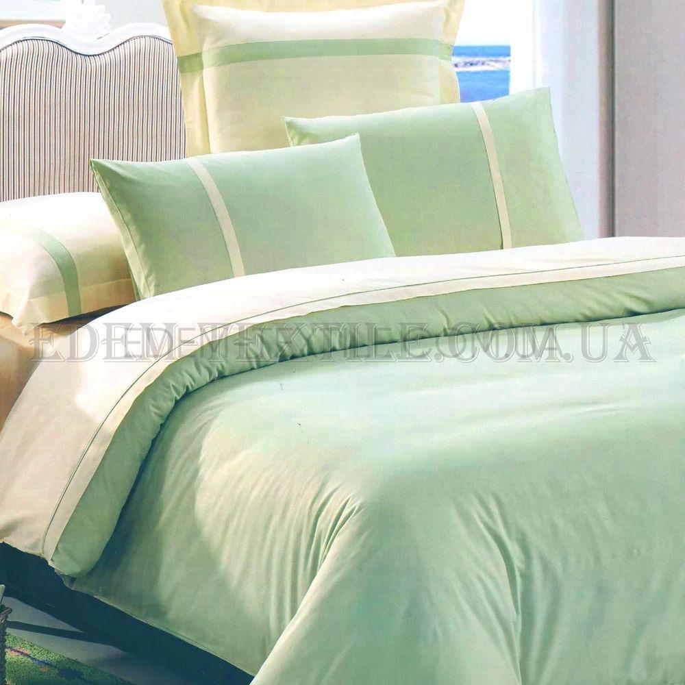 Однотонна постільна білизна сатин євро Tiare 20 Фісташковий купити ... 82bf126c5e0d5