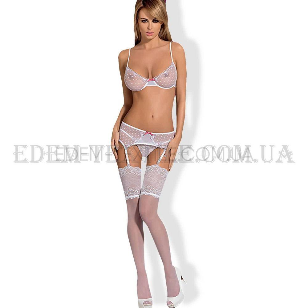 Комплект жіночої білизни Obsessive Subtelia Set білий купити по Україні 8607095ed6d9e