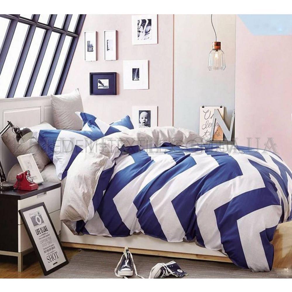 Постільна білизна сатин 160х220 Bella Villa B-0047 Синій купити по ... 293372e83cf5e