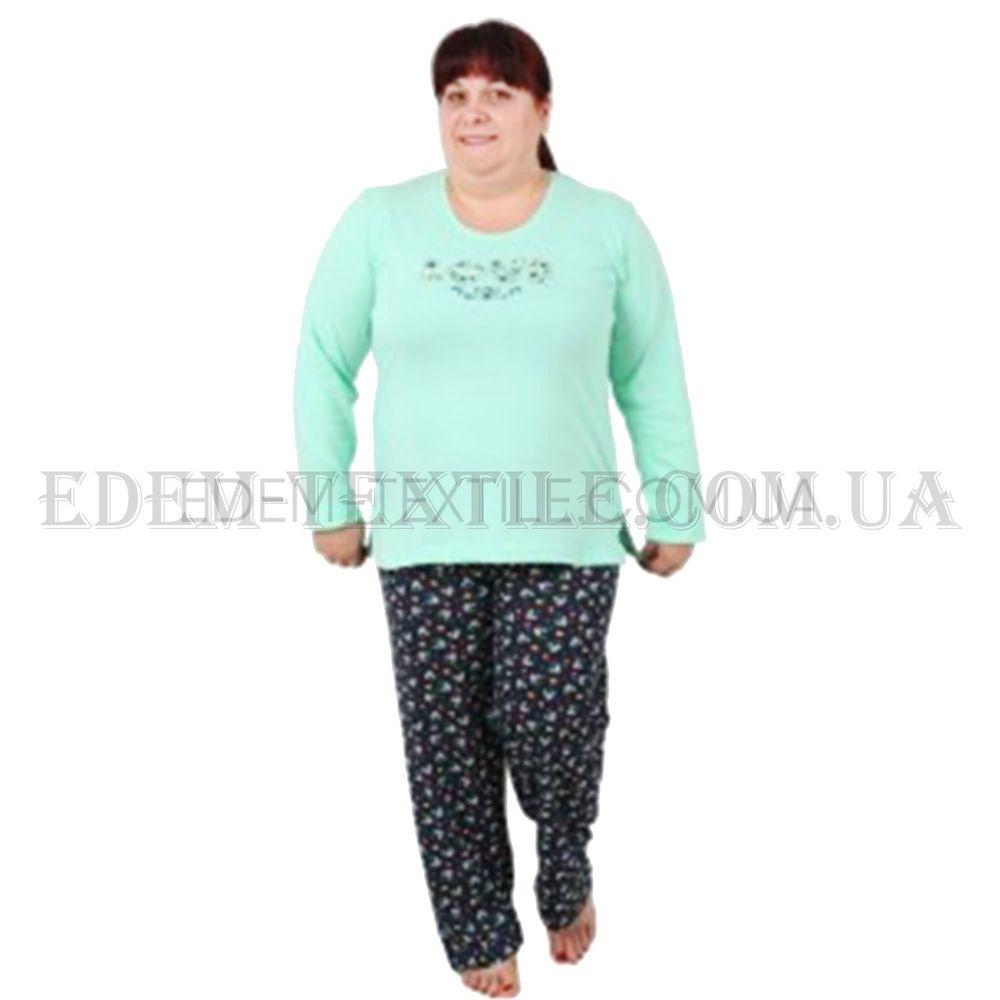 bca3c32dc7b89 Пижама женская Vienetta Secret 4375/409028 Батал Зеленый Купить по ...