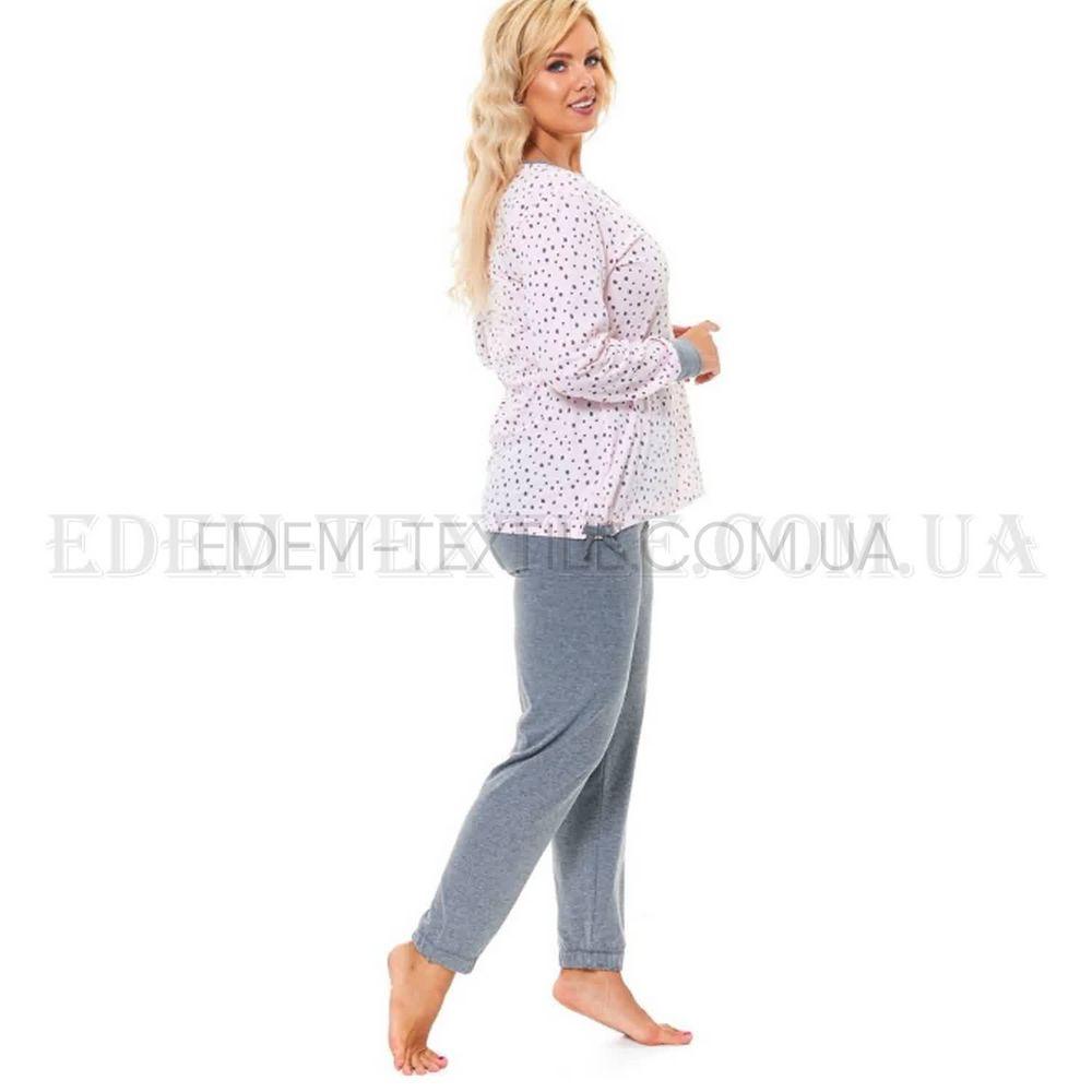 1618467ac25d Стильная пижама Батал с брюками Dobranocka 9554 , L Купить в Украине