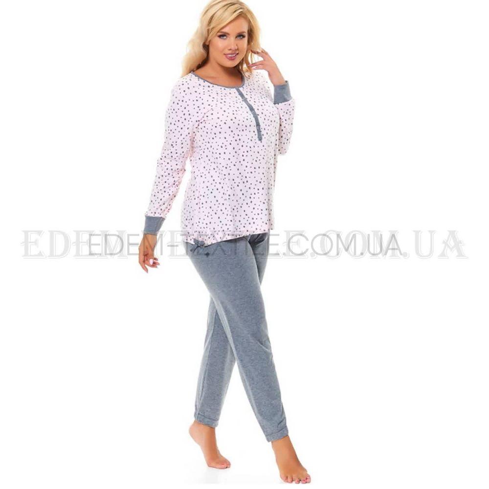 Стильна піжама Батал з брюками Dobranocka 9554 Рожевий купити по Україні 057da6b4422df