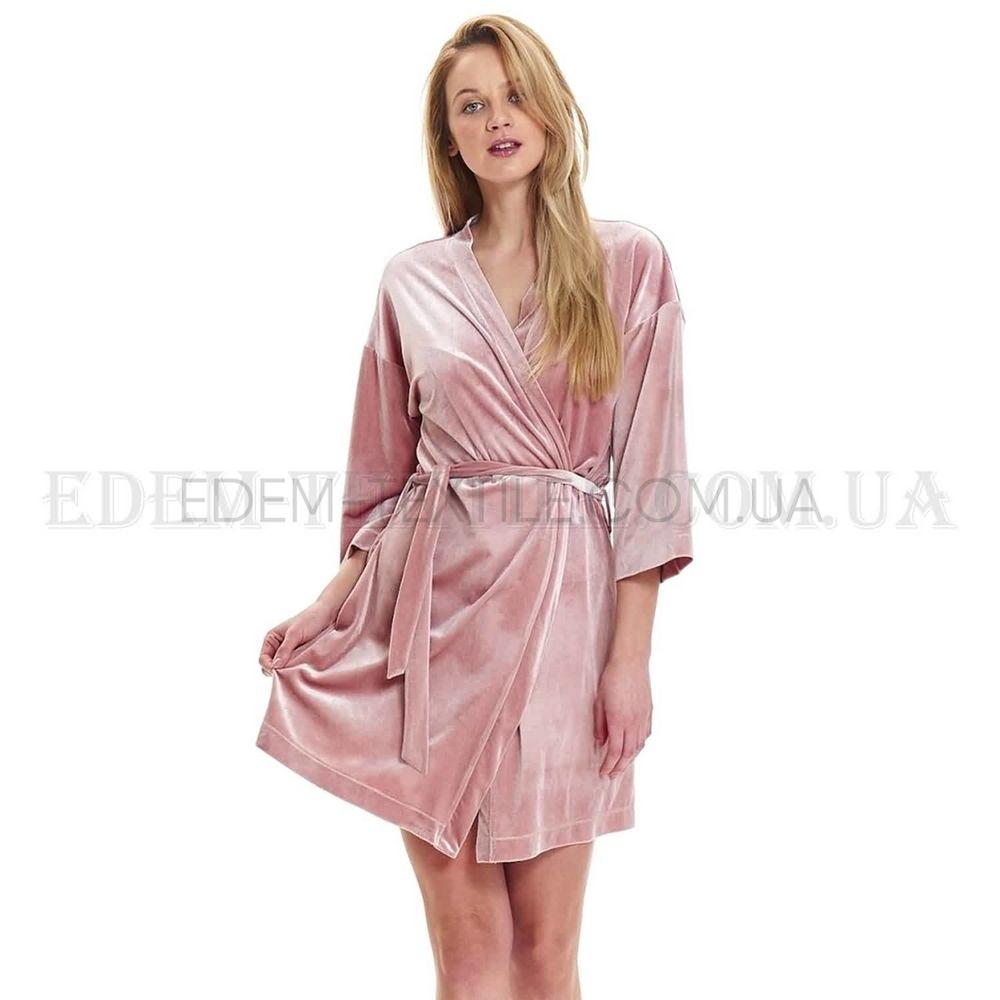 c80e4c0ac2c3 Стильный велюровый женский халат Dobranocka 9483 , S Купить в Украине