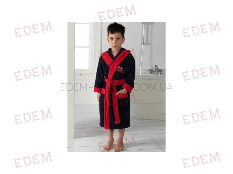 6761cd9db9895 Халат детский махровый Philippus Тачки Темно-синий, Купить в Украине