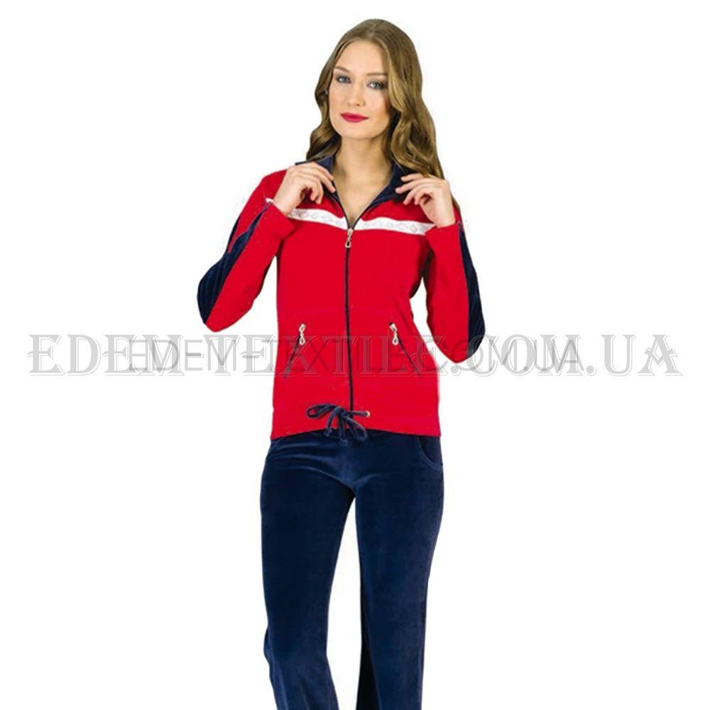Домашній костюм жіночий велюровий Playnew PМ-050 Червоний купити по ... 7897891bd9afa