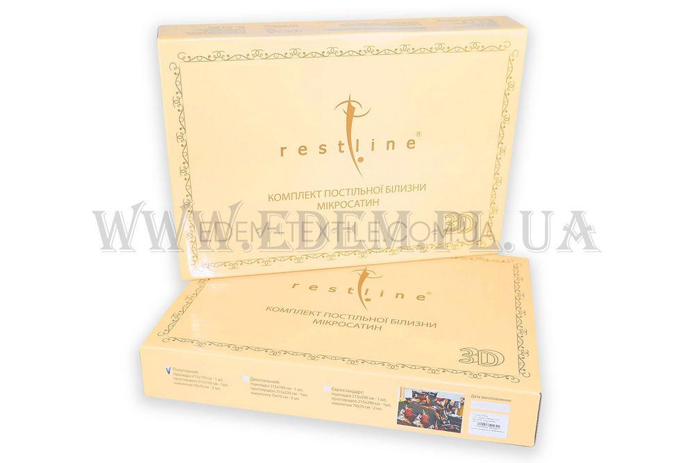 Постільна білизна Restline 150х215 мікросатин 3D Амур 161 Шоколадний ... 35c755f9e3c0b