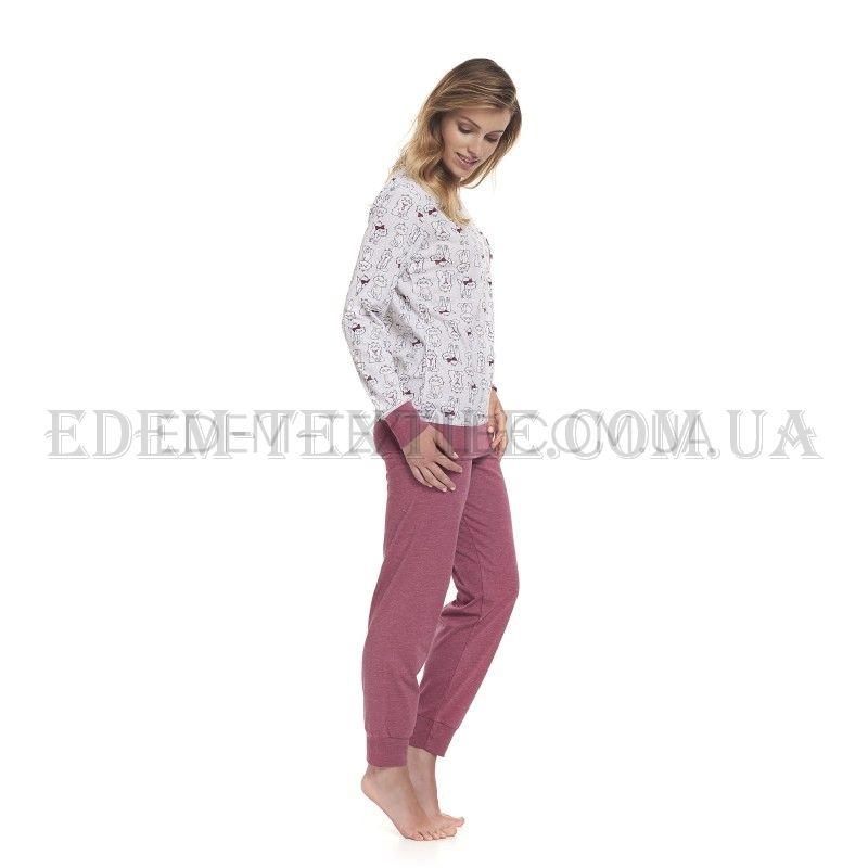 Піжама жіноча з котами Dobranocka 9325 Blueberry Баклажан купити по ... 5eb0275db519b