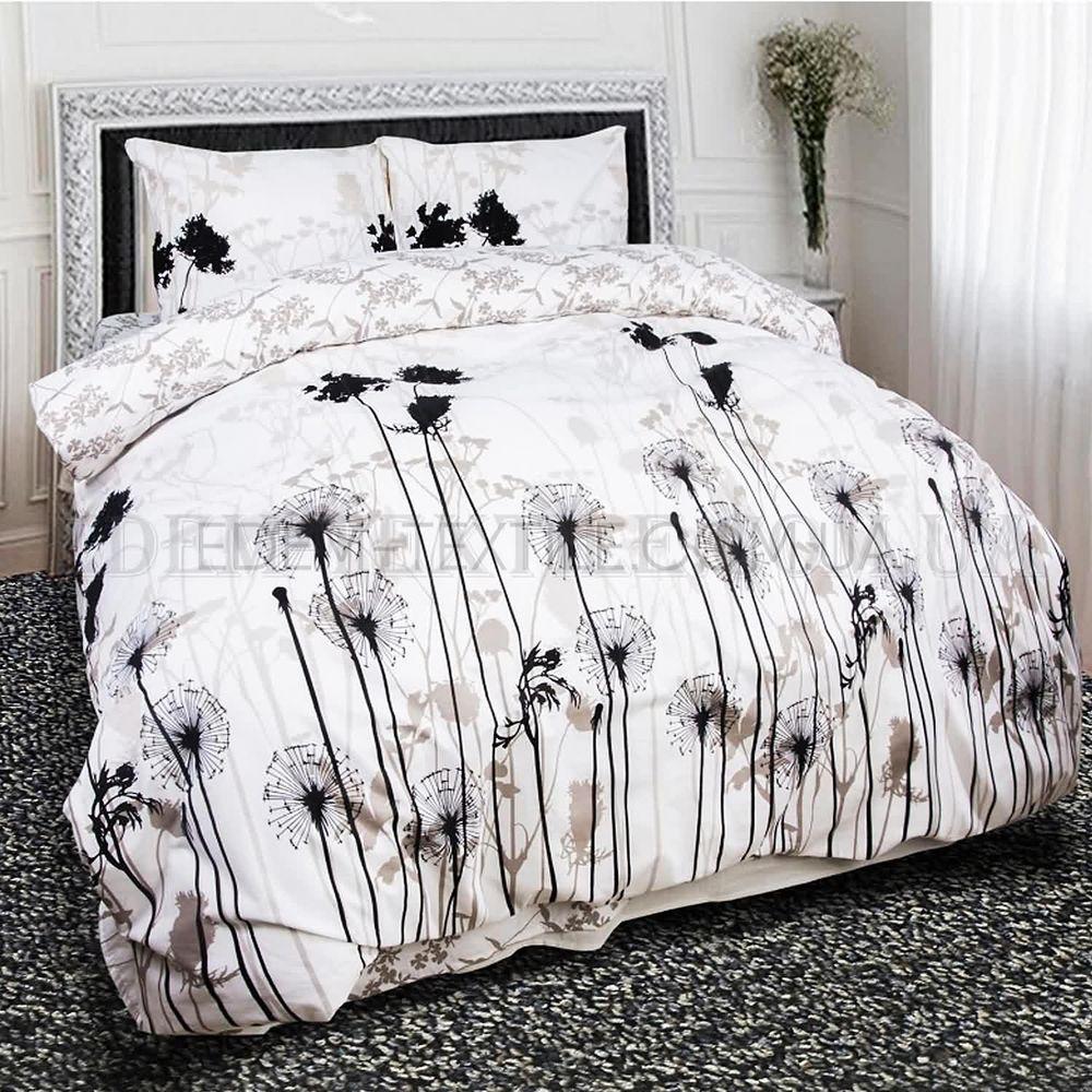 Постельное белье двуспальное Теп бязь Саммертайм 957 Бело-серый ... 125db70cc3fca