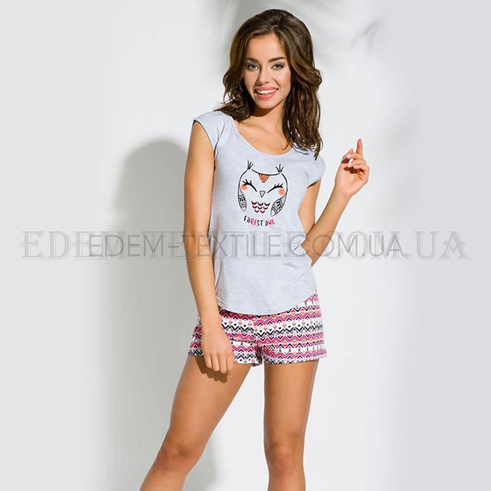 Піжама футболка і шорти Сова Taro Eva сірий купити по Україні 543901b4a29b5