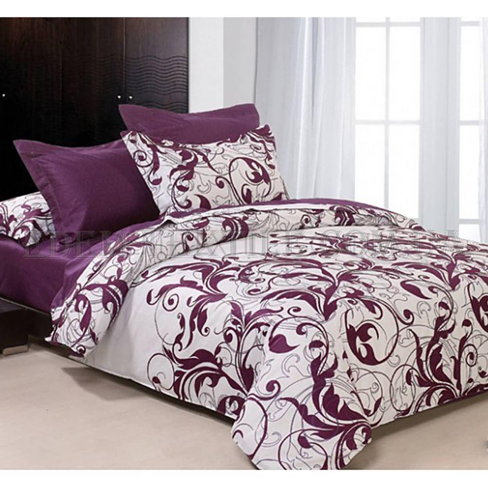 Постільна білизна Viluta 200х220 ранфорс 8624 Фіолетовий купити по ... c9399f453f4a4
