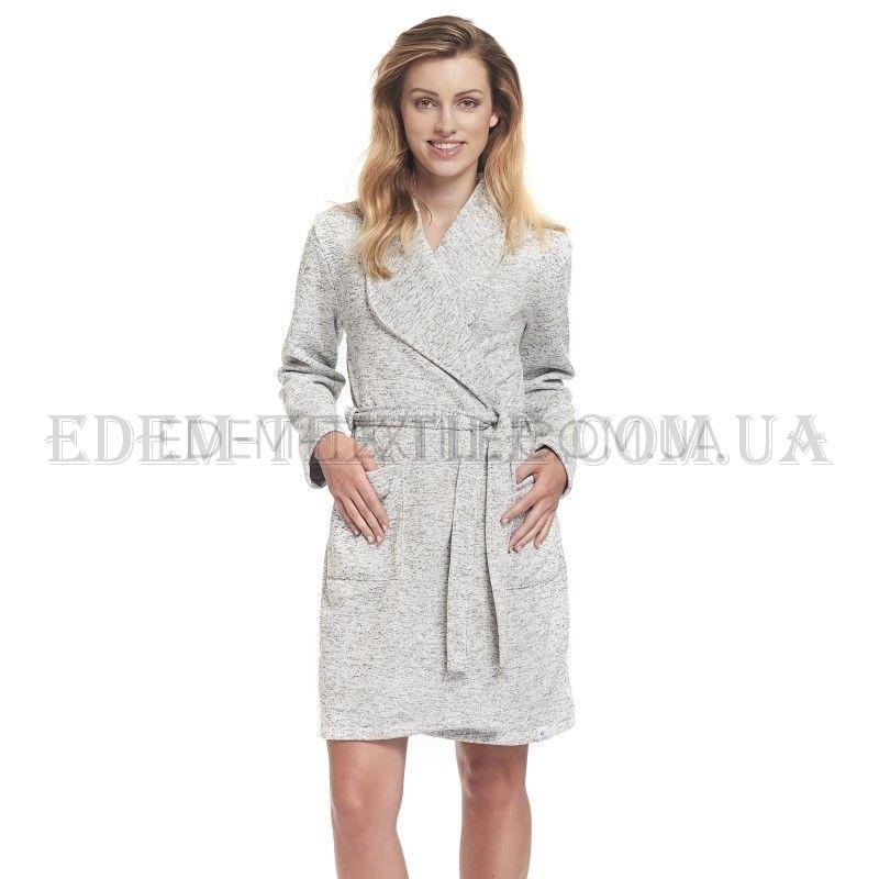 d3d4c5fb1c3 Теплый женский халат с запахом Dobranocka 9361 Купить по Украине
