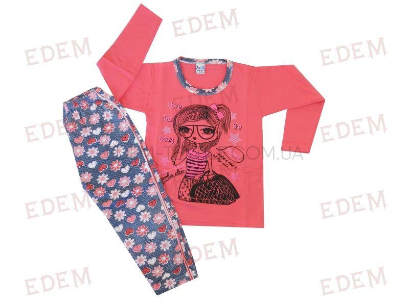 ASMA піжама дит БАЙКА (довг рук+брюки) ДІВЧИНА В ОЧКАХ дівч купити ... 69629605c6cc4