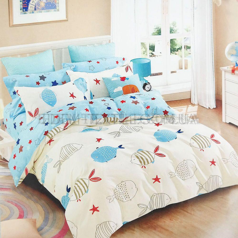 Постіль з рибками дитяча Сатин Твіл Viluta 144 Блакитний купити по ... 55d221f15820a