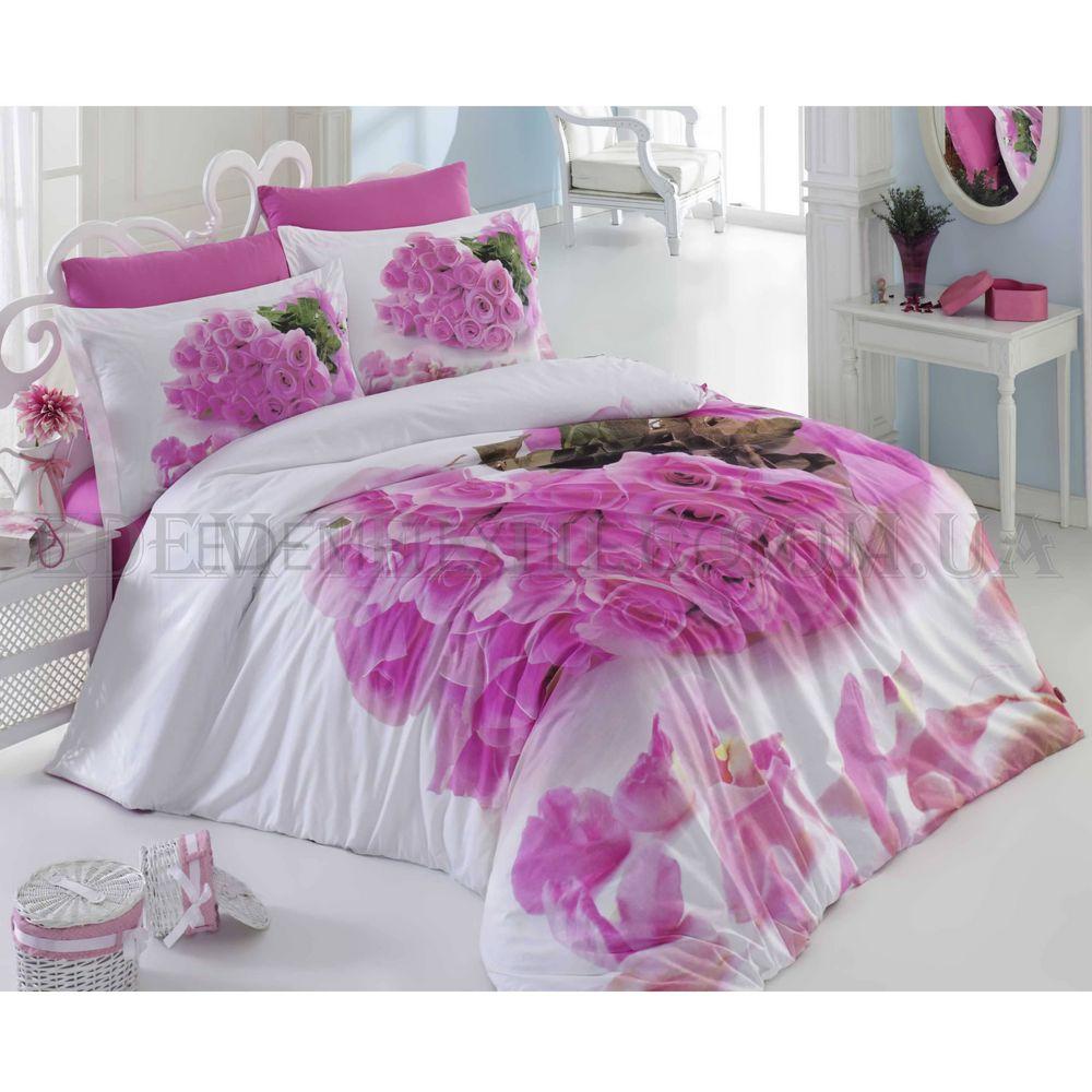 Постільна білизна Hobby 200х220 поплін Love Рожевий купити по Україні 86ca6ff968128