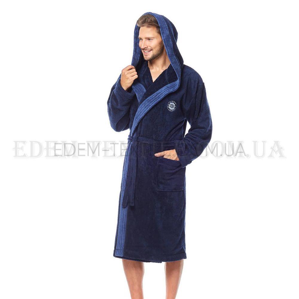 fee0251c86ba7a Теплий чоловічий пухнастий халат з капюшоном L&L George , M Купити в ...