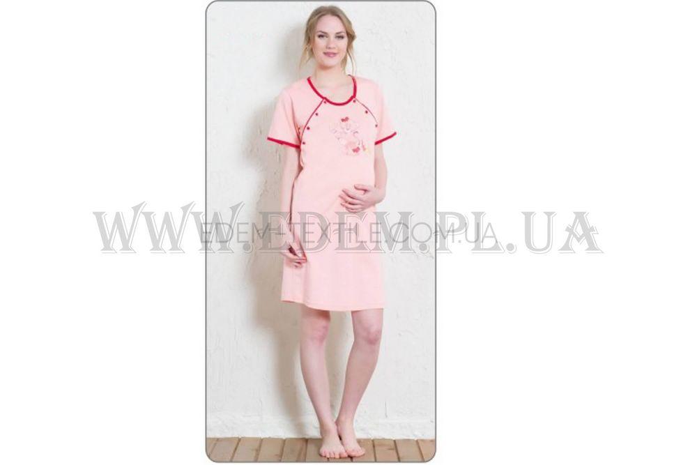 Сорочка жіноча для годуючих Vienetta Secret 5477 персикова f684e63a35cc2