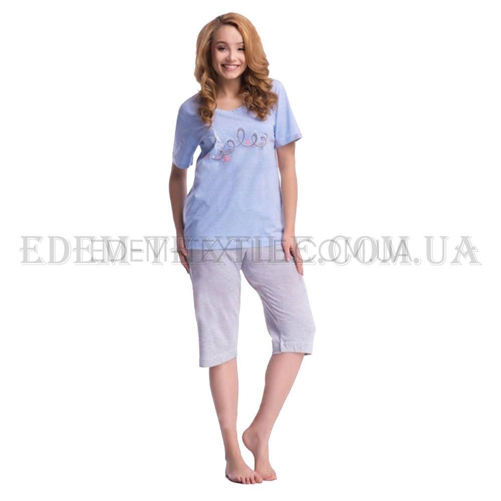 Пижама женская Dobranocka 7049 Батал Голубой Купить по Украине 314e03012f8fc