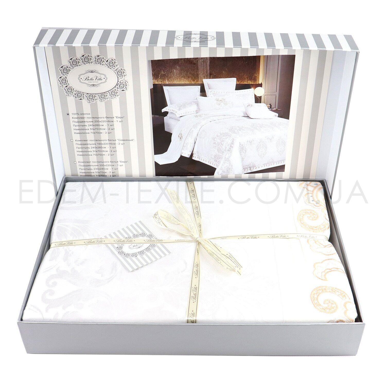 Жаккардовое постельное белье J-00534 в коробке Фото