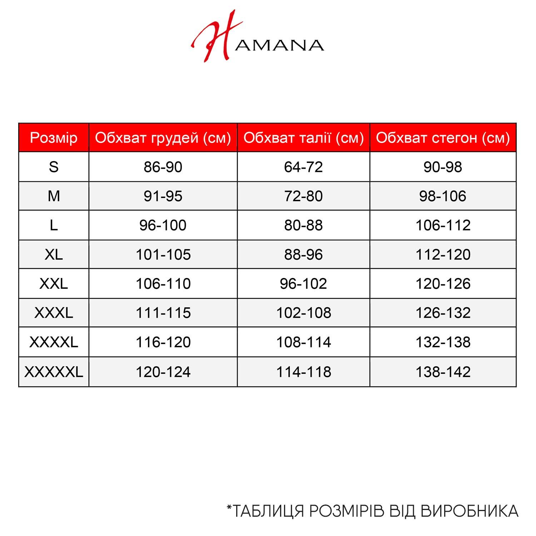 Размерная таблица Hamana – Фото