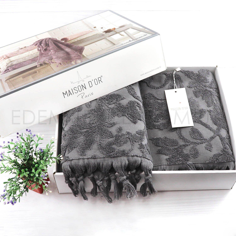 Комплект махровых полотенец на подарок Maison D'or – Фото