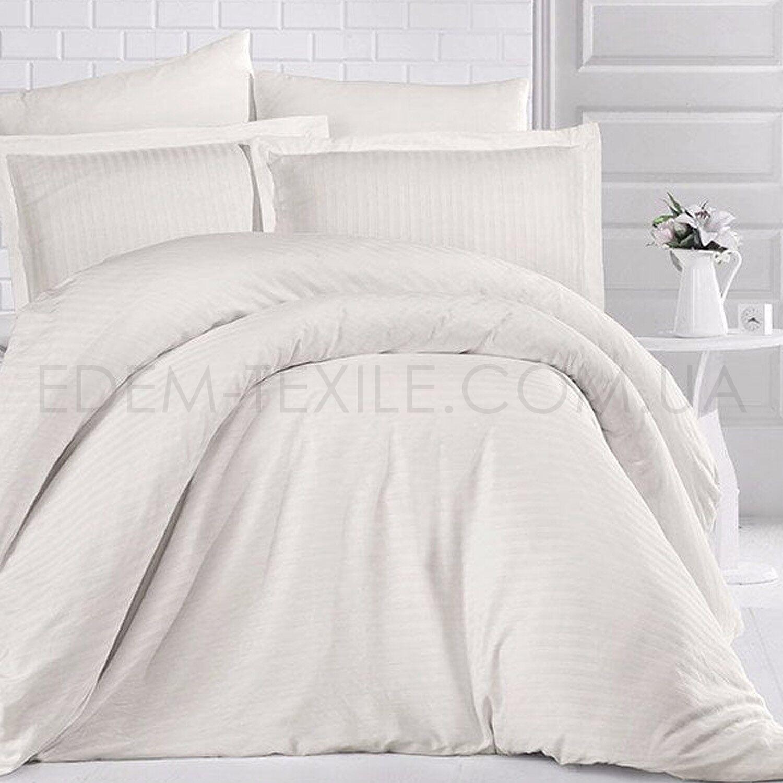 Комплект постельного белья сатин Clasy Krem - Фото