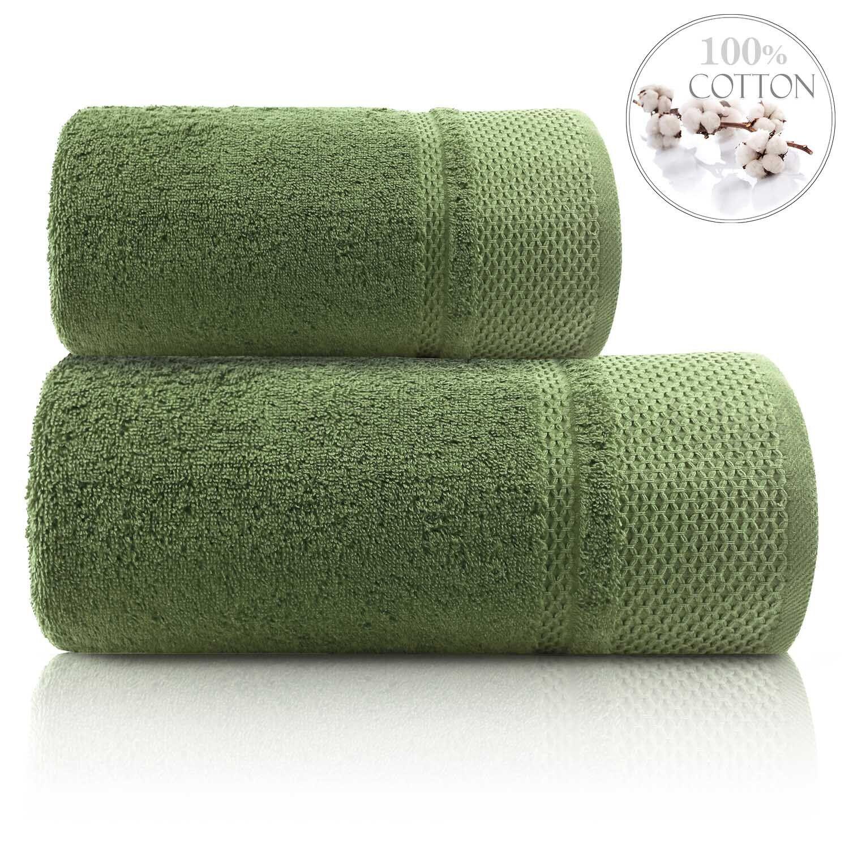 Мягкое полотенце для ванной Kumsal зеленое – Фото