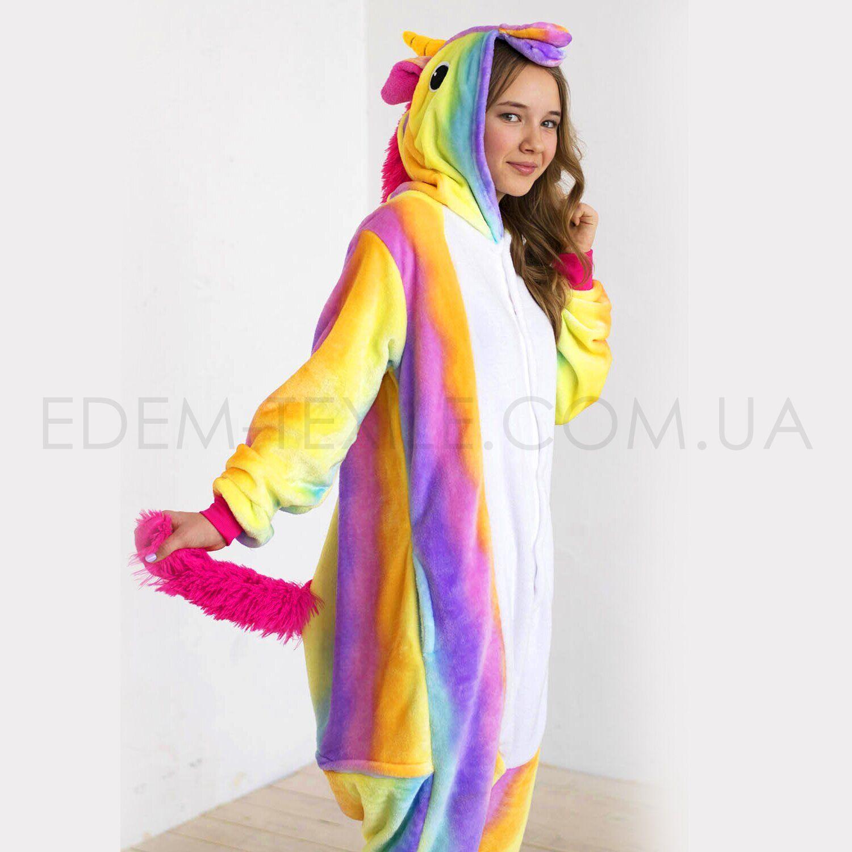 Пижама Кигуруми Единорог Радужный – Фото 1
