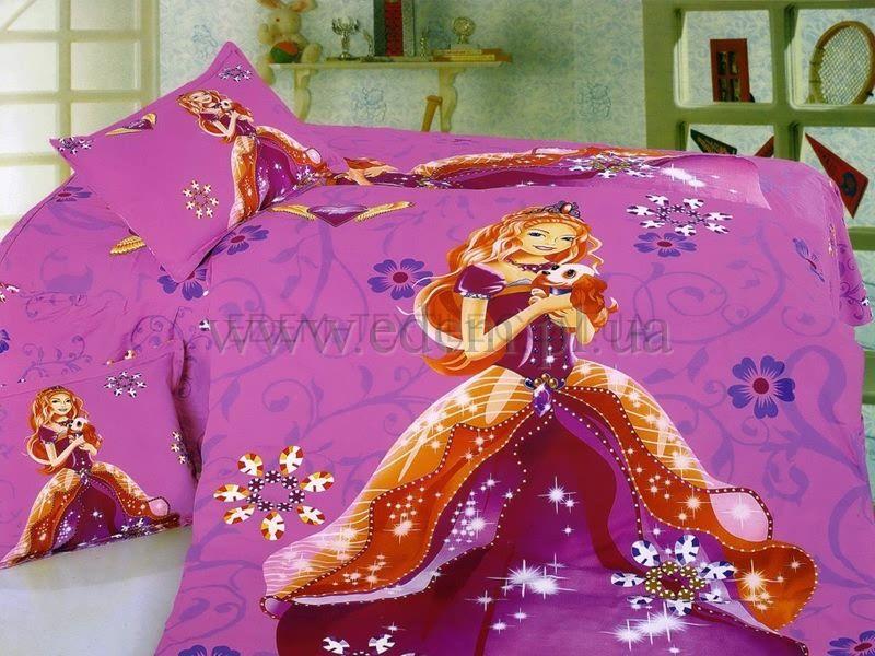Постельное белье La Scala 160х205 сатин KI-043 Принцесса с ...